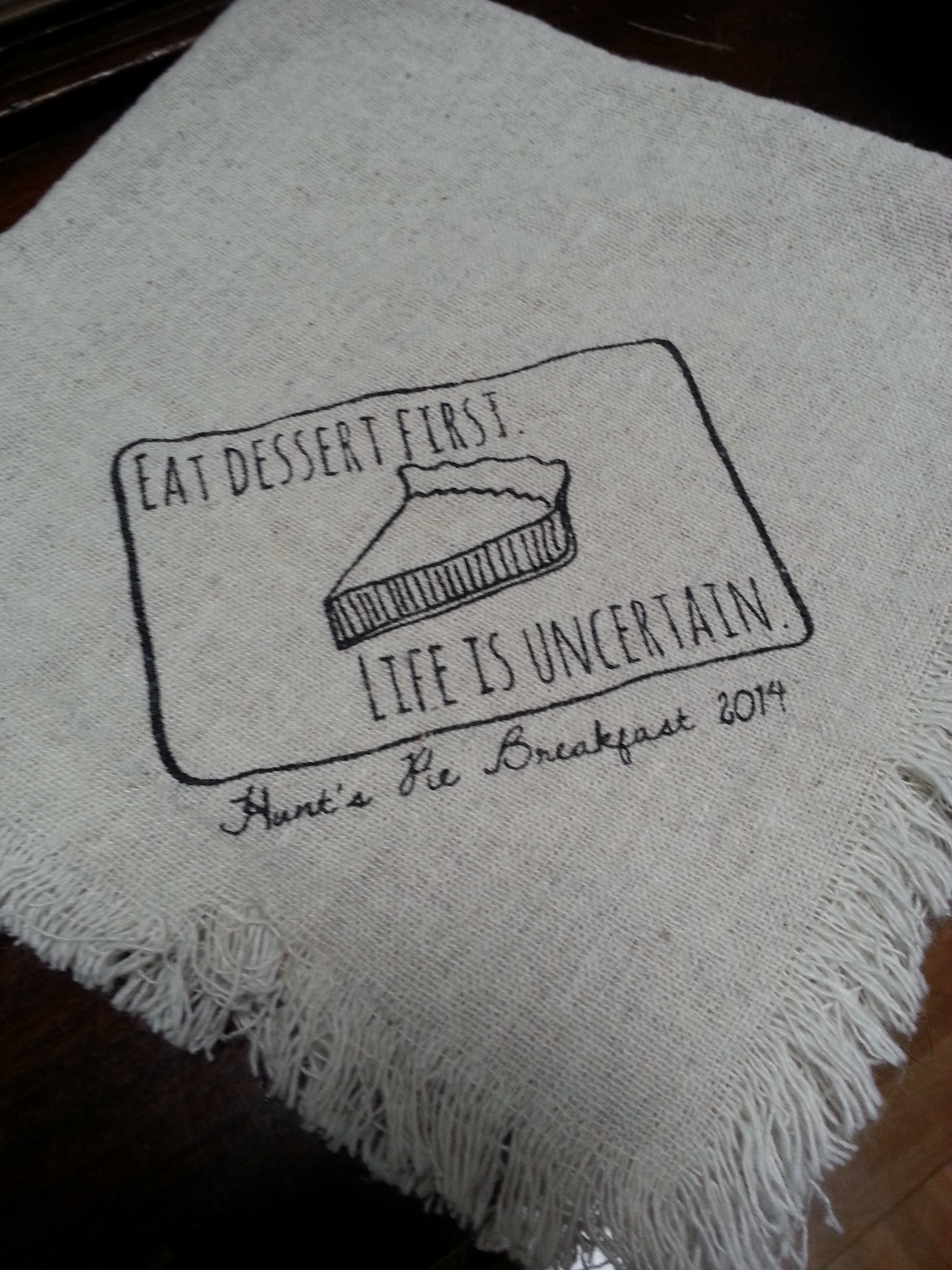 Pie Breakfast Napkin