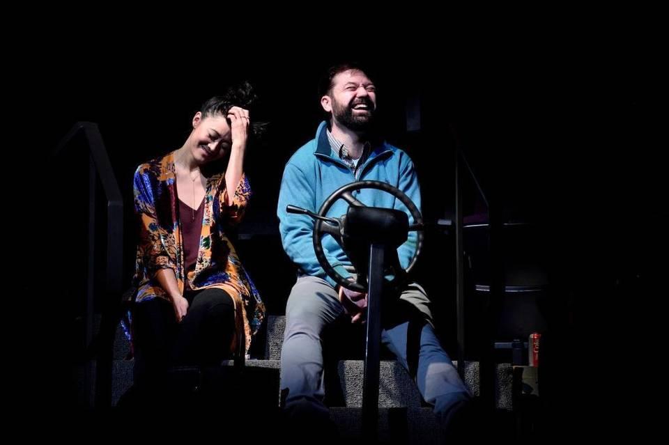 Satomi Blair as Hiro and Tom Coiner as John in  God Said This  at the Humana Festival last year.