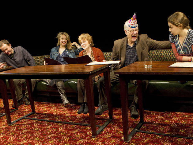 Production photo from the 2012 Playwrights Horizons production of The Big Meal by Dan LeFranc — a play that, as far as I can remember — doesn't actually have any food on stage.
