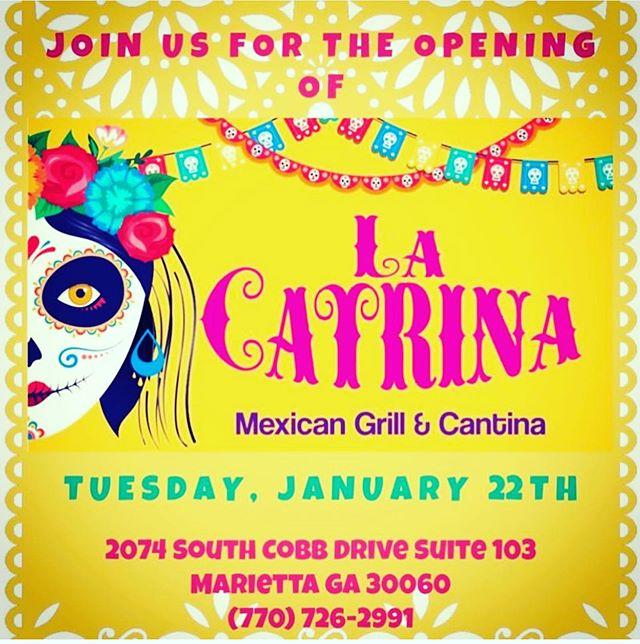 Come out and check us out!!! #lacatrina #marietta #atlanta