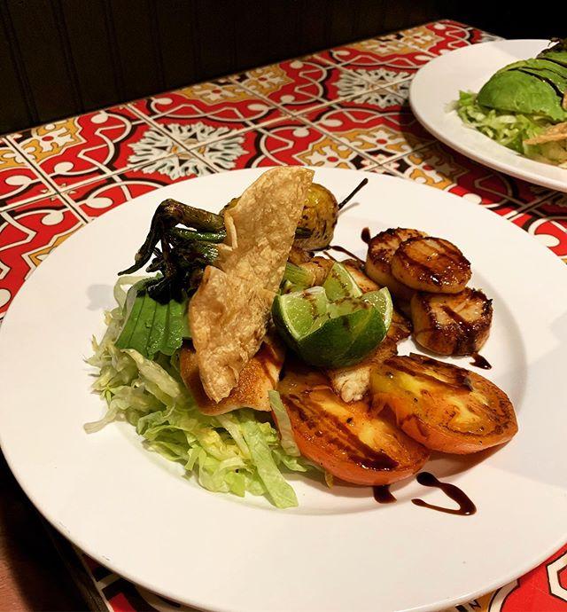 La catrinas tilapia & scallops plate ⭐️ #lacatrina #marietta #scallops #tilapia #foodnetwork #atlanta
