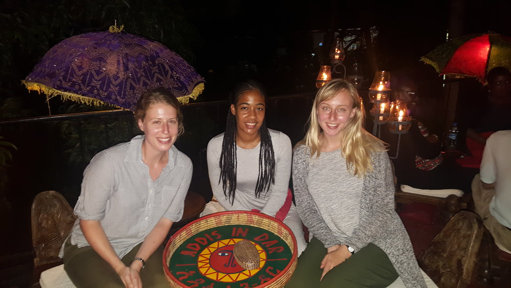 Stacey, Taylor & I at Addis in Dar