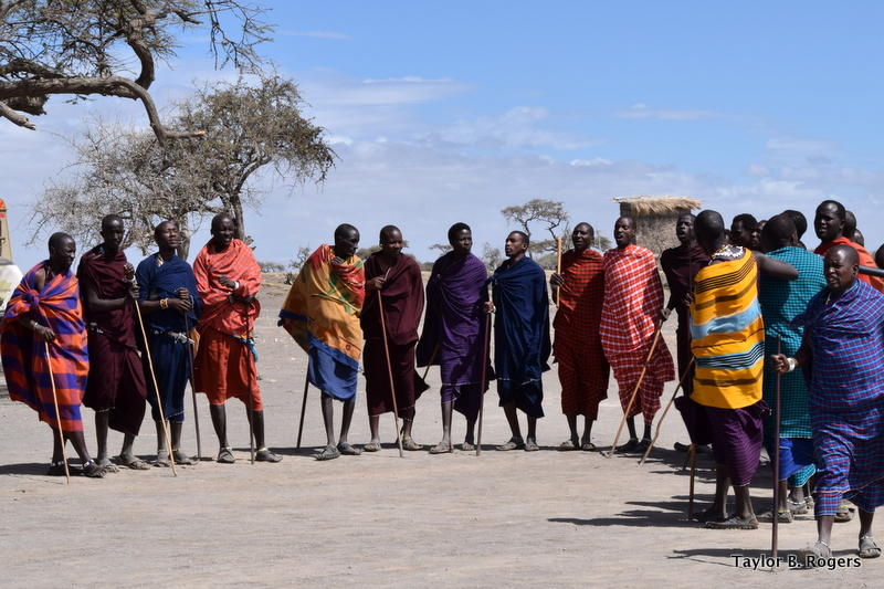 "Maasai Warriors Perform ""Welcome Dance"""