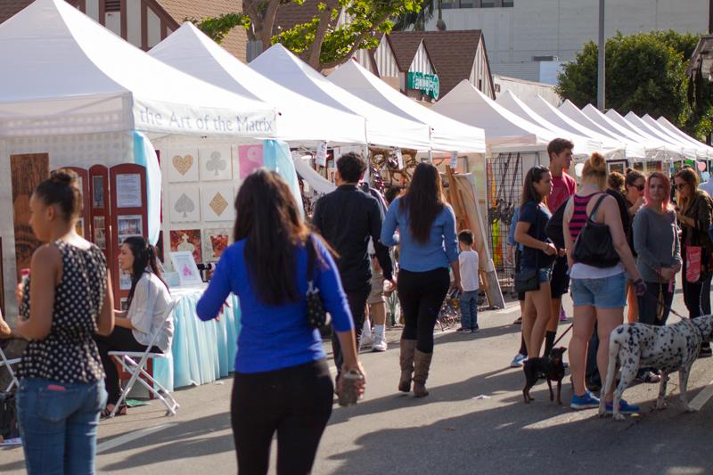 Brentwood Art Festival is a place to now just show off your art but sell it as well. Taken at Brentwood Art Festival in Los Angeles, Calif. on Apri. 26, 2015