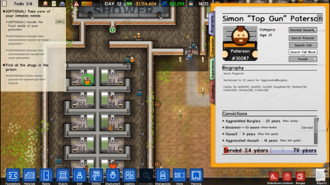 While the guards and staff remain faceless ciphers, the prisoners each have a in-depth backstory that can be viewed in menus