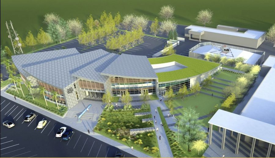 Concept art of the proposed Malibu Campus.