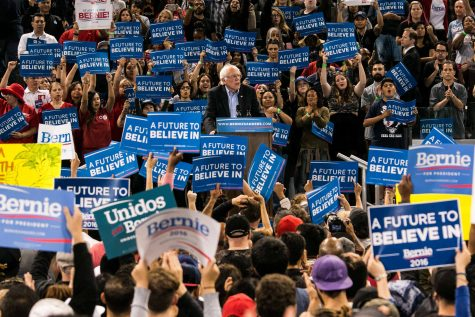 Bernie Sanders during the rally he held on May 17, 2016 in Carson, Calif. as a last attempt to win California voters for the Democratic Primary.