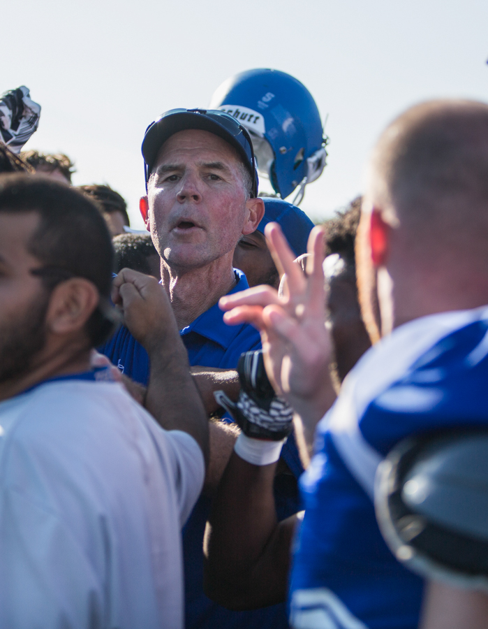 The Santa Monica College Corsairs Head Football Coach Bill Laslett is in his first year of coaching for the Corsairs. Laslett has been coaching football for 18 years.  October 1rd, 2016 at Santa Monica College in Santa Monica College. (Daniel Bowyer)