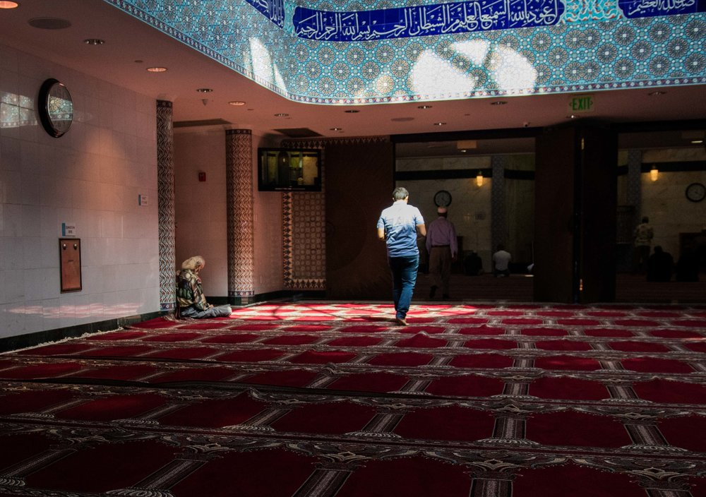 Inside of the Fahad Mosque in Culver City, Calif.