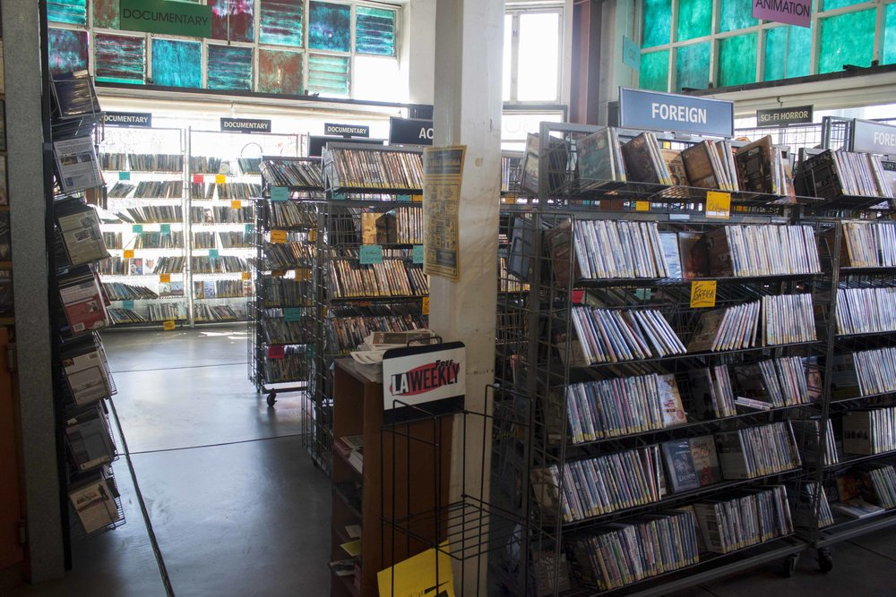 Inside Vidiots, the 31 year old movie rental store located at 302 Pico Blvd, Santa Monica, CA 90405 on November 29, 2016. The unique store had trouble in recent years trying to find funding to keep its doors open. At this time the store was open after a crowd funding service and donations gave it new life. Unfortunately, the store has now closed its Pico location doors for good and will hopefully reopen in a new Los Angeles location by 2018. Photo by Cecilia Martin