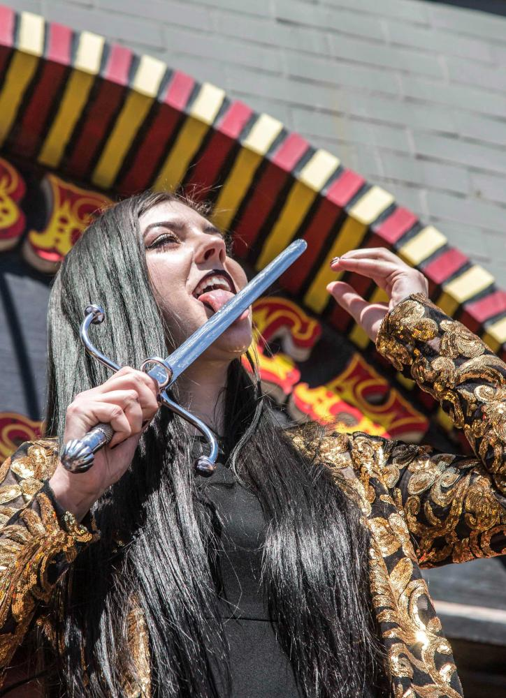 "Venice Freakshow performer Morgue performs a mind bending feat in which he shoves a meat hook through his nose and out of his mouth without any harm being done for himself at the Venice Beach Freakshow Farewell Party and Protest in Venice California on April 30, 2017.     Zane Meyer-Thornton     1 of 11  A group of protestors share Snapchats hidden agendas at the Venice Beach Freakshow Farewell Party and Protest in Venice California on April 30, 2017.     Zane Meyer-Thornton     2 of 11     A group of protestors share Snapchats hidden agendas at the Venice Beach Freakshow Farewell Party and Protest in Venice California on April 30, 2017.     Zane Meyer-Thornton     2 of 11  Venice Freakshow performer Jessa The Bearded Lady takes a bow before the crowd at the Venice Beach Freakshow Farewell Party and Protest in Venice California on April 30, 2017.     Zane Meyer-Thornton     3 of 11     Venice Freakshow performer Jessa The Bearded Lady takes a bow before the crowd at the Venice Beach Freakshow Farewell Party and Protest in Venice California on April 30, 2017.     Zane Meyer-Thornton     3 of 11  Venice Freakshow performer Asia Ray, resident Sword swallower and fire-eater, shows off her skill of sword swallowing during the Venice Freakshow Farwell Protest and Party on the Venice Boardwalk in Venice, Calif., on Sunday, April 30 2017. Ray has been with the freak show since her father Todd Ray opened this house of wonders in 2006 and ""made the most of [her] final performance for the Venice Freakshow enthusiasts.""      Matthew Martin      4 of 11     Venice Freakshow performer Asia Ray, resident Sword swallower and fire-eater, shows off her skill of sword swallowing during the Venice Freakshow Farwell Protest and Party on the Venice Boardwalk in Venice, Calif., on Sunday, April 30 2017. Ray has been with the freak show since her father Todd Ray opened this house of wonders in 2006 and ""made the most of [her] final performance for the Venice Freakshow enthusiasts.""      Matthew Martin      4 of 11  Over 300 people came to attend and support the final performance of the Venice Freakshow during the Venice Beach Freakshow Farewell Party and Protest on the Venice Boardwalk in Venice Calif., on Sunday, April 30, 2017. Six months ago, Freak Show founder Todd Ray learned that its five-year lease would be allowed to expire and that he would have to ""unfortunately find a new location to set up his freaky house of wonders.      Matthew Martin      5 of 11     Over 300 people came to attend and support the final performance of the Venice Freakshow during the Venice Beach Freakshow Farewell Party and Protest on the Venice Boardwalk in Venice Calif., on Sunday, April 30, 2017. Six months ago, Freak Show founder Todd Ray learned that its five-year lease would be allowed to expire and that he would have to ""unfortunately find a new location to set up his freaky house of wonders.      Matthew Martin      5 of 11  Venice Freakshow performer Kanya Sesser shows off her amazing balance despite her lack of legs at the Venice Beach Freakshow Farewell Party and Protest on the Venice Boardwalk in Venice Calif., on Sunday, April 30, 2017.      Matthew Martin      6 of 11     Venice Freakshow performer Kanya Sesser shows off her amazing balance despite her lack of legs at the Venice Beach Freakshow Farewell Party and Protest on the Venice Boardwalk in Venice Calif., on Sunday, April 30, 2017.      Matthew Martin      6 of 11  Venice Freakshow performer Asia Ray, resident Sword swallower and fire-eater, prepares to swallow a sword by moistening the blade with her tongue during the Venice Freakshow Farwell Protest and Party on the Venice Boardwalk in Venice, Calif., on Sunday, April 30 2017. Ray has been with the freak show since her father Todd Ray opened this house of wonders in 2006 and ""made the most of [her] final performance for the Venice Freakshow enthusiasts."" Matthew Martin."