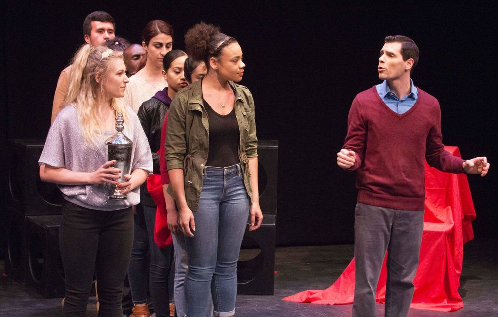 Voices of Hope, play by Pamela Lassiter Cathey about sexual assault and its consequences for the victims. On Studio Stage Productions/Performances at Santa Monica College, Calif. On Friday April 28, 2017. (Emeline Moquillon)