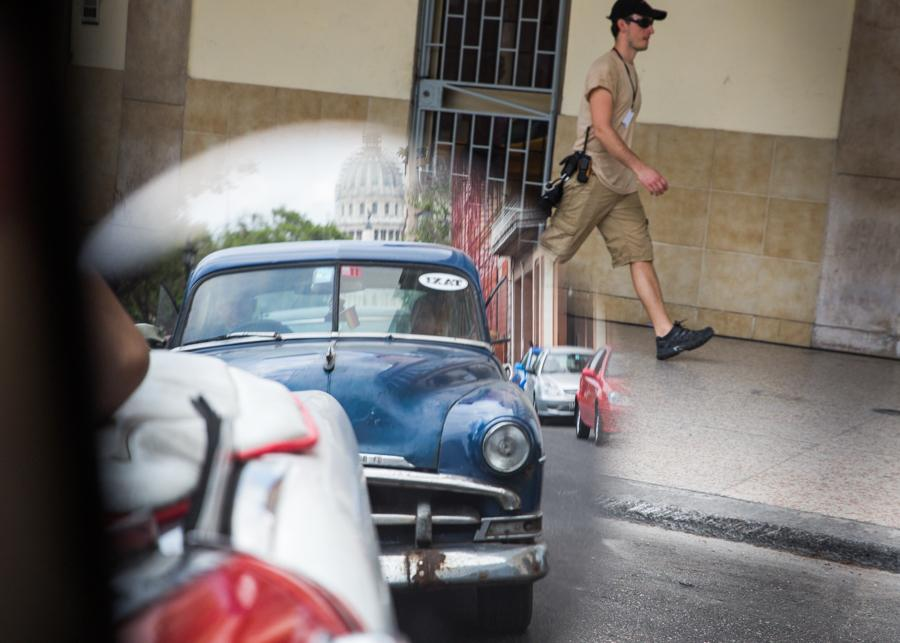 "A ""Fast and Furious 8"" film crew member walks around the perimeter of the set located in the China Town area of Havana, Cuba. Jose Lopez"