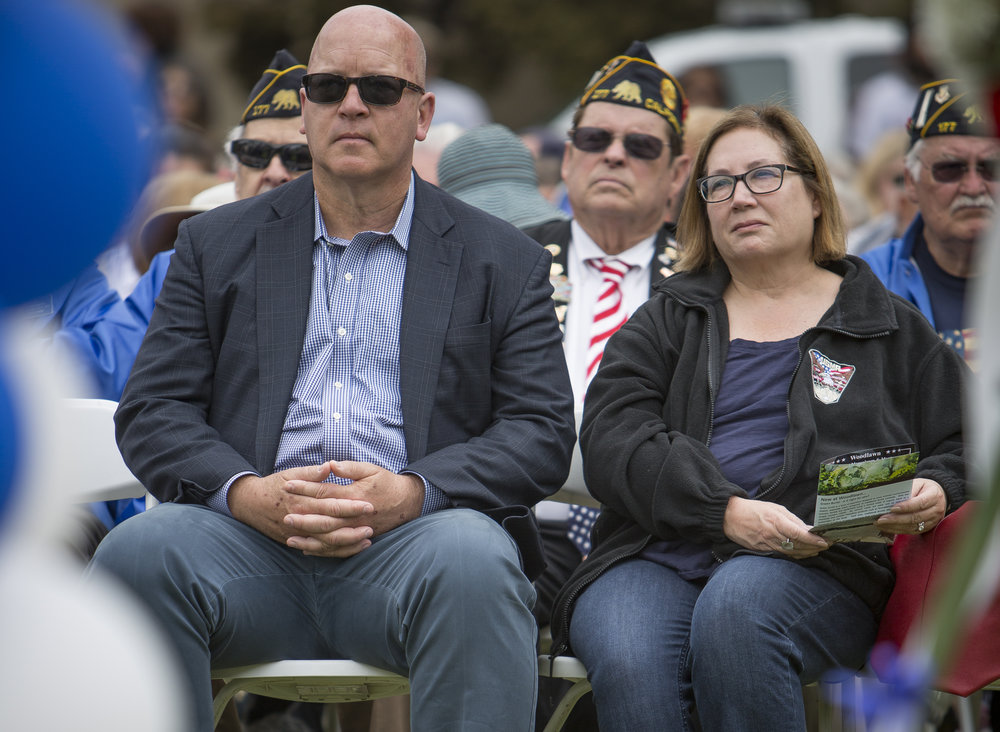 May 29,2017. Santa Monica Mayor Ted Winterer attends the 79th Annual Memorial Day Observance at Woodlawn Cemetary in Santa Monica California. (Daniel Bowyer)