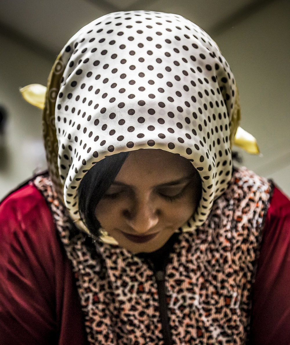 Wyam Elkhidir, an organizer for the Muslim Student Association and a psychology student at SMC, prays toward Mecca in a Muslim prayer space, which is located down the stairwell in the lobby of the Science Building on the Santa Monica College main campus in Santa Monica Calif., on Thursday, May 25, 2017. Next semester Elkhidir hopes to work with the Associated Students and other religious clubs on campus to create a multi-faith room, a kind of sanctuary for students of all religions to come in, meditate and pray. (Corsair Photo: Matthew Martin)