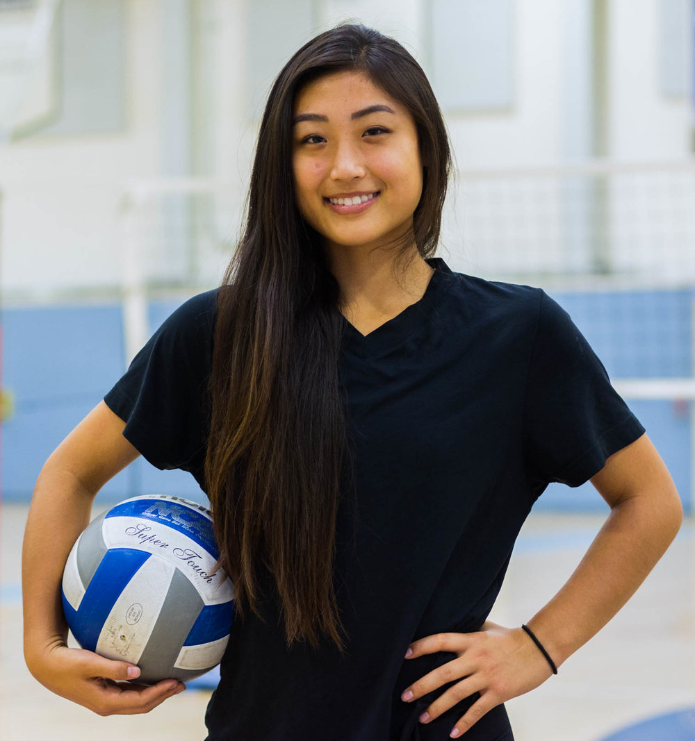 Megan Yoon, 19, a 2015 graduate of Culver City High School has been playing with ARROW, the Santa Monica College Volleyball Team since 2016. Yoon is studying Kinesiology and hopes to transfer to a 4-year college. (Sid Sidibe)