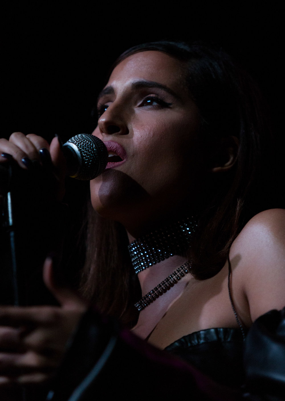 "Swedish singer-songwriter Snoh Aalegra performs ""You Got Me"" as part of her opening set for Canadian R&B artists Daniel Caesar (Ashton Simmonds) for his ""Freudian"" tour named after his debut album with the same name at the Fonda Theatre on Halloween on Tuesday, October 31st 2017 in Los Angeles, Calif. (Photo by: Thane Fernandes)"