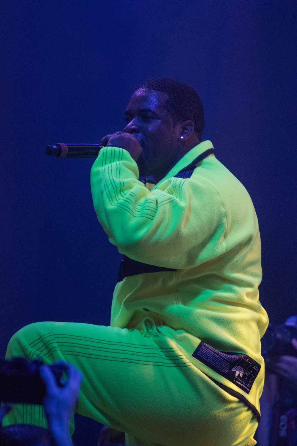"A$AP Ferg (Darold D. Brown Ferguson Jr.) performs ""Shabba Ranks"" at the Pigeons and Planes Stage at Complexcon. Ferguson was one of the many performers at the event which hosted numerous stage performances, booths with merchandise, discussion panels. Complexcon took place on November 4, 2017 and November 5, 2017 at the Long Beach Convention Center in Long Beach Calif. (Photo By: Zane Meyer-Thornton)"