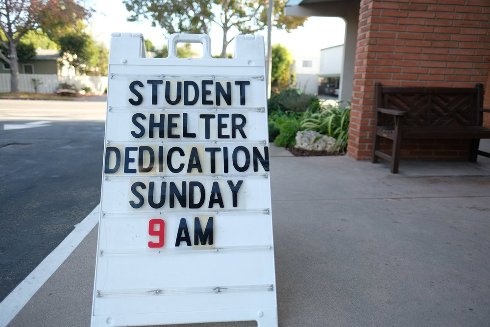 Mt Olive Lutheran Church of Santa Monica hosted a sunday service along with a ribbon cutting ceremony to celebrate the opening of the Students 4 Students, a student run homless shelter for homeless college students on December 3, 2017 in Santa Monica, CALIF. (Photo by Jayrol San Jose)