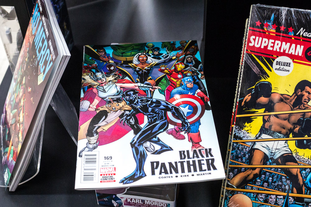 The graphic novel Black Panther is prominently on display at HI DE HO comics in Santa Monica, CA on Thursday March 1 2018. (Photo by Ruth Iorio)