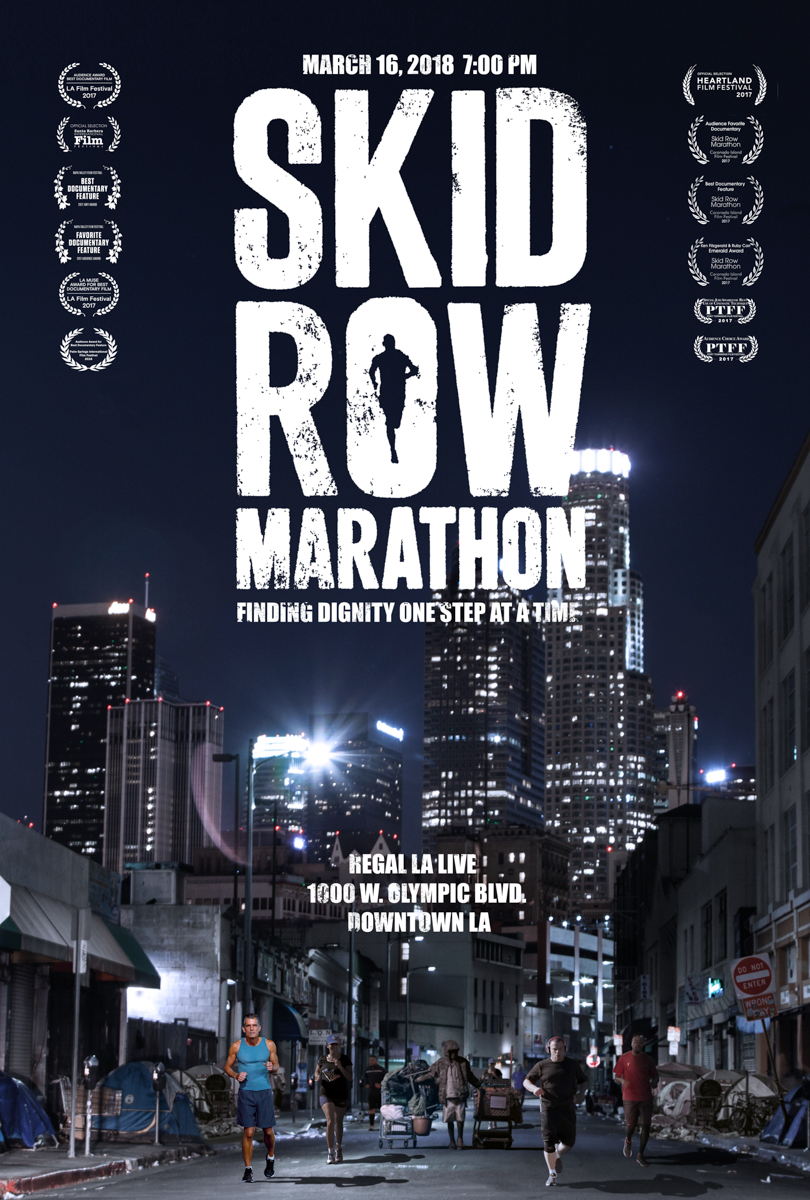 Documentary Poster for  Skid Row Marathon  ( Courtesy of Mark and Gabrielle Hayes )