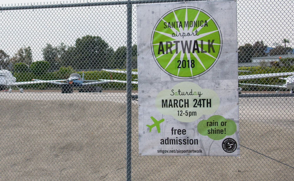 On Saturday, March 24 from 12 to 5 p.m., the 12th annual ArtWalk at the Santa Monica Airport along Airport Ave. will be held in Santa Monica, California. Due to the airport hosting many artist studios, they will be open for the community to visit in addition to work by the Santa Monica College Art's Mentor program and ceramics department. (Ethan Lauren/Corsair Photo)