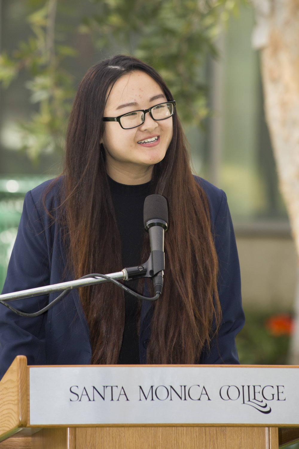 """Cathy Phung running for Director of Publicity. Slate: Step Forward Promise if elected: """"One promise I'm going to fill is social media on campus to promote the events and make sure students are aware of what's going on around campus.""""SMC main campus in Santa Monica California, on Tuesday, April 3, 2018. (Fernanda Rivera/Corsair Photo)"""