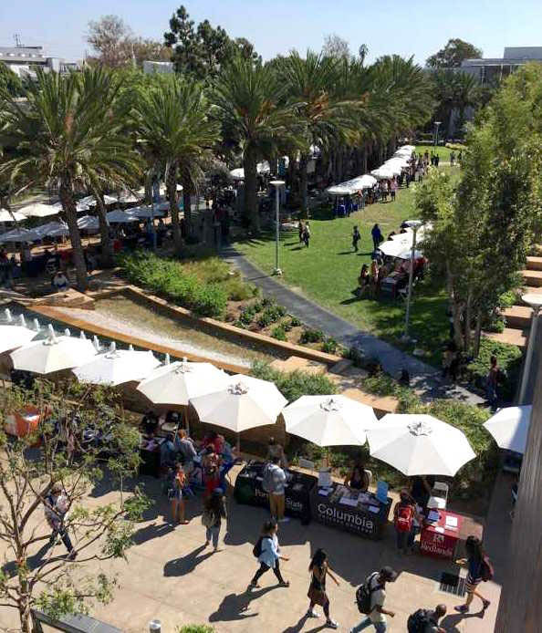 Students attend the Fall College Fair on October 13, 2015, at Santa Monica College Main Campus in Santa Monica, California. (Dotan Saguy/ Corsair Staff)