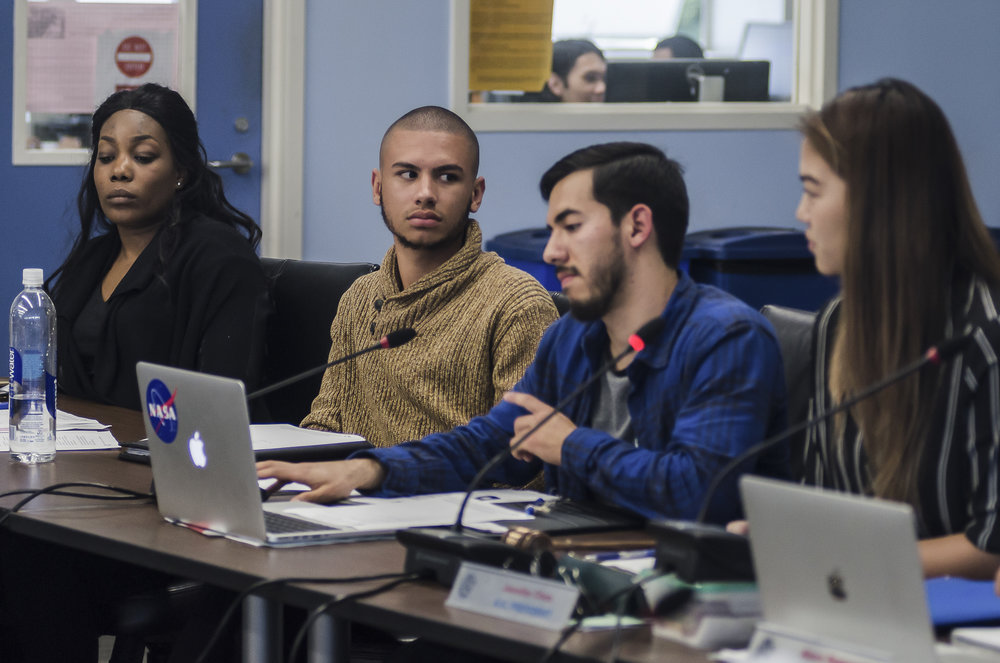 A.S. Student Trustee Chase Matthews took umbrage with President Jennifer Chen's facebook comments regarding a recent decision made by the A.S. Board to refuse funding for catering at the upcoming graduation reception.(Reed Curtis/Corsair Photo)