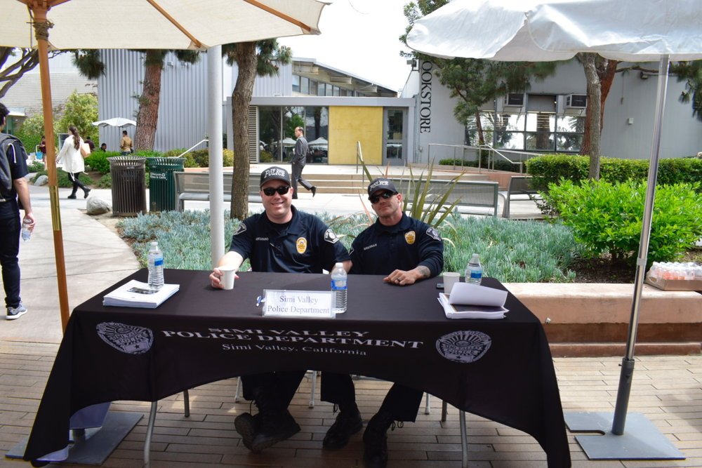 The Simi Valley Police Department looking for new talents to join their force during the Santa Monica College Job Fair on May 8, 2018 in Santa Monica, Calif. (Claudia Vardoni/ Corsair Photo)
