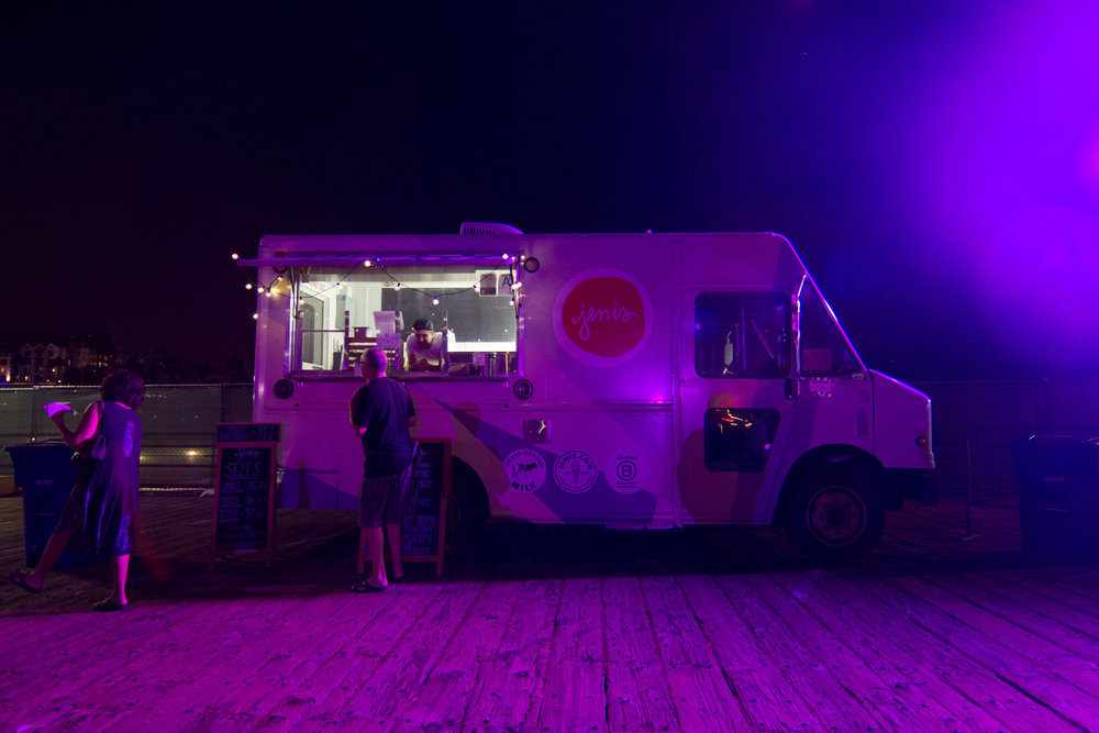 Jenis Splended Ice Cream truck serving for the 'Twilight on the Pier ' series in Santa Monica, California on Sept, 19th. (Jacob Victorica/ Corsiar Photo)