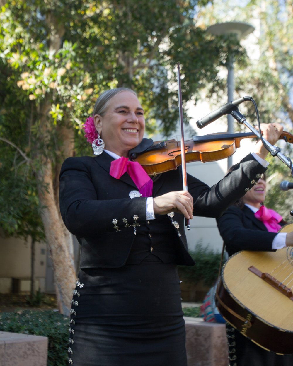 "Band member of mariachi band ""Corazon De Mexico"" performing outside the quad area located at  Santa Monica College in Santa Monica California on Tuesday November 13th, 2018. (Jacob Victorica/ Corsair Photo)"