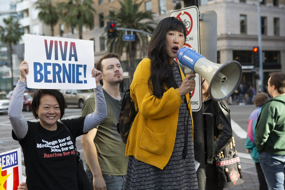 Bernie Sanders supporters gathered for the march and rally, Saturday, February 23, 2019 in Hollywood, Calif. Senator Bernie Sanders announced this past Tuesday that he will again seek the presidency and his supporters get together to support him with different slogans.Yasmin Jafari /The Corsair