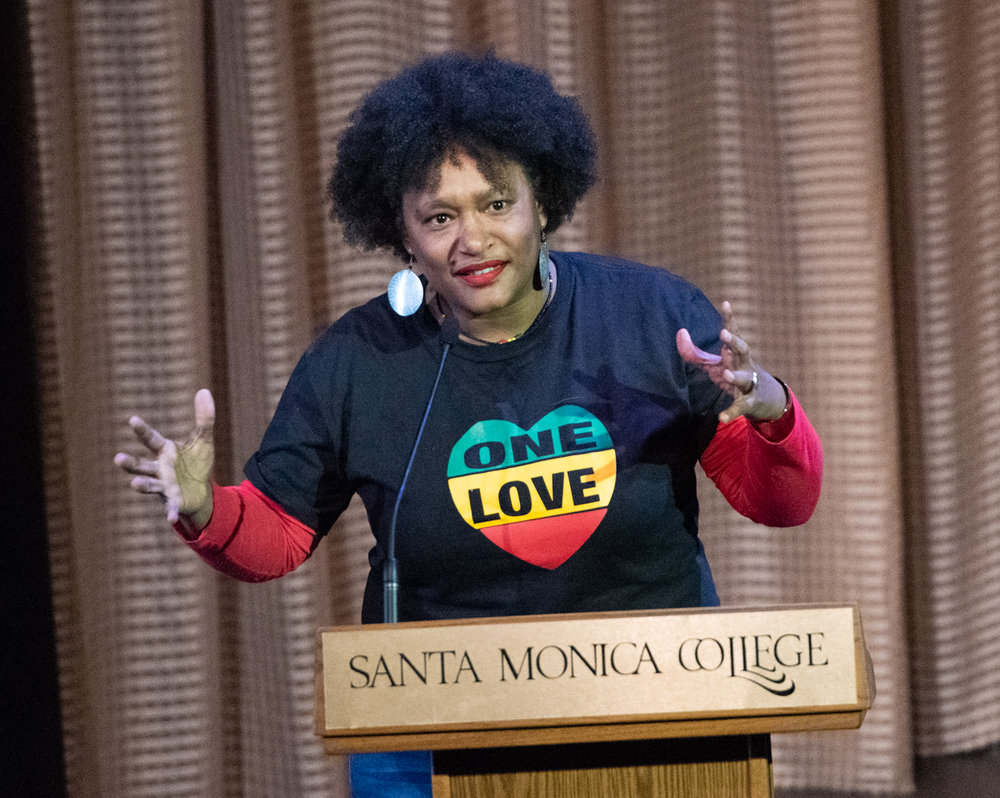 At Santa Monica College ON Feb 26,2019 the main stage at theater Arts complex With Nngest Likke. The movie PHAT GIRLZ . Clyde Bates Jr./The Corsair