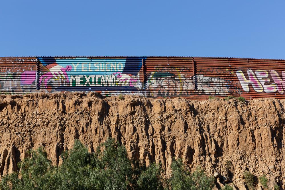 The border wall along the US-Mexican border in Tijuana, Mexico, on Saturday, February 23, 2018. Photo by: Ben Camacho.