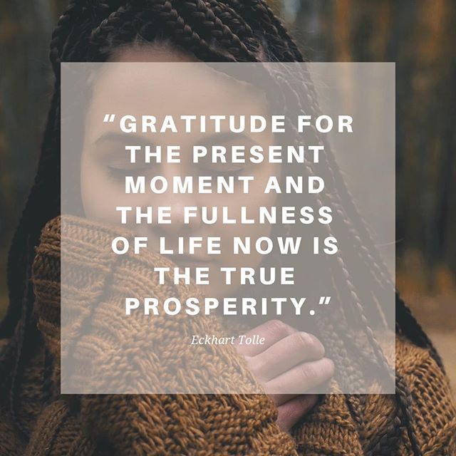 This quote from Eckhart Tolle is one of my favorites. I celebrate thanksgiving by writing letters of gratitude to people who I'm thankful for. That and eating a ton of turkey and sweet potato pie!! How do you spend the day?⠀ #thanksgiving