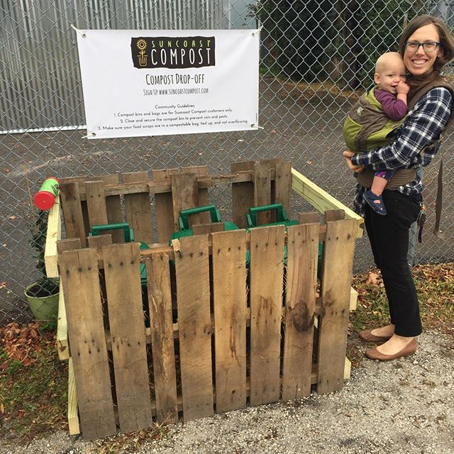 Our friends at @communityrootscollective have composted 245 lbs of food waste since April. They just moved to their new beautiful home, so we moved with them! #maggotfarmer repurposed our hurricane Irma supplies to make our new drop-off spot. You too can jump on the compost train for $16/month. We give you the bins and bags, drop-off at anytime. Get back finished compost twice a year. #closetheloop #seminoleheights #southseminoleheights #ybor #yborcity #tampaheights #downtowntampa #tampa