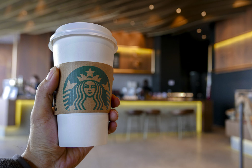 T H E A S K  - Construct a Rube Goldberg machine based off Starbucks. Must have at least 12 different triggers and help or extend the brand.