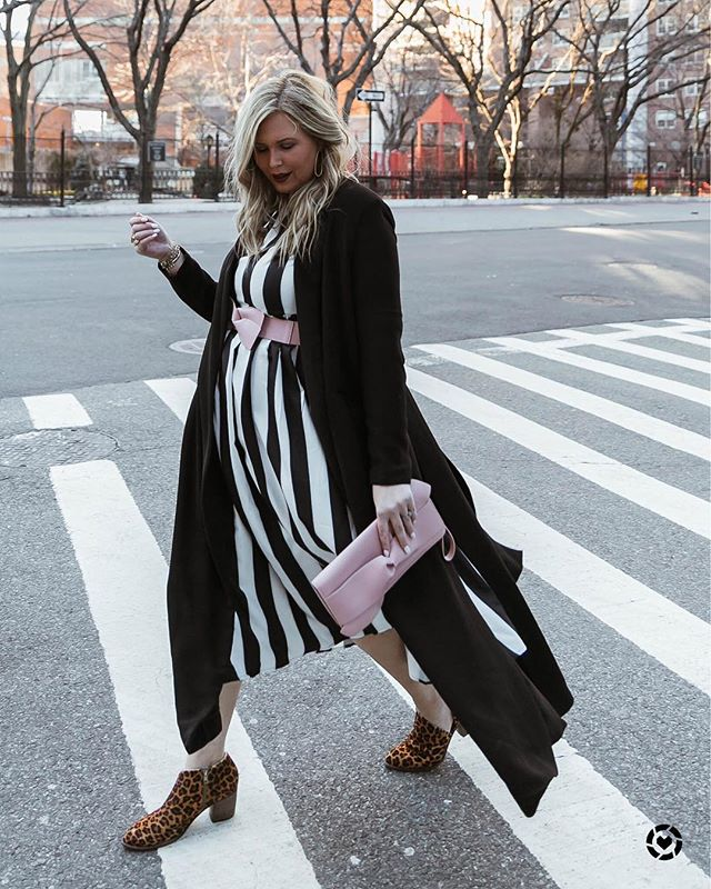 You don't have to spend a ton of money to look like you got it goin' on 😏 Several of you asked what I like to splurge on, and I told you not trendy items. Like these shoes and coat? They were an investment. But this bag and this amazing striped dress? On the cheap, like super mega under $20 cheap. I've had this trench coat for 4 years and I remember spending $98 on it - the quality and uniqueness was something I knew I'd never find again. This was one of my favorite #NYFW looks, hope you love it! http://liketk.it/2BbEe #liketkit @liketoknow.it #LTKcurves #LTKshoecrush #LTKstyletip #sizeinclusive