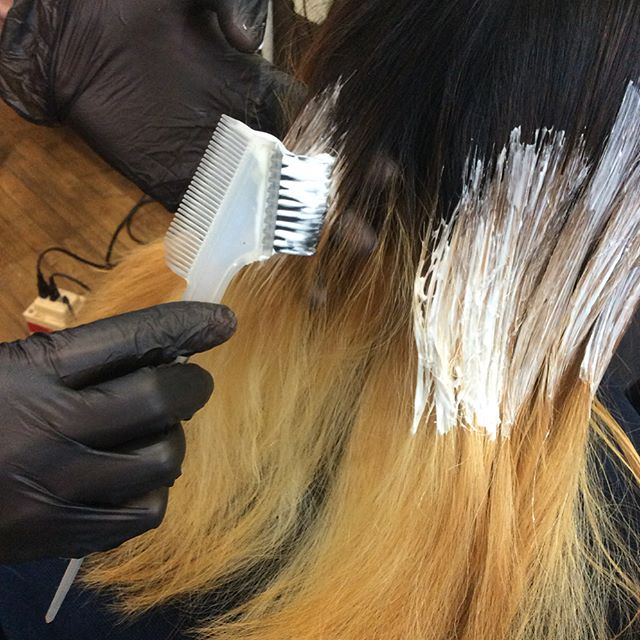"Two times bleach and Ash color!!! We started new Japanese color products. The name is ""Addicthy Color"". #defi #boston #haircolor #milbon"