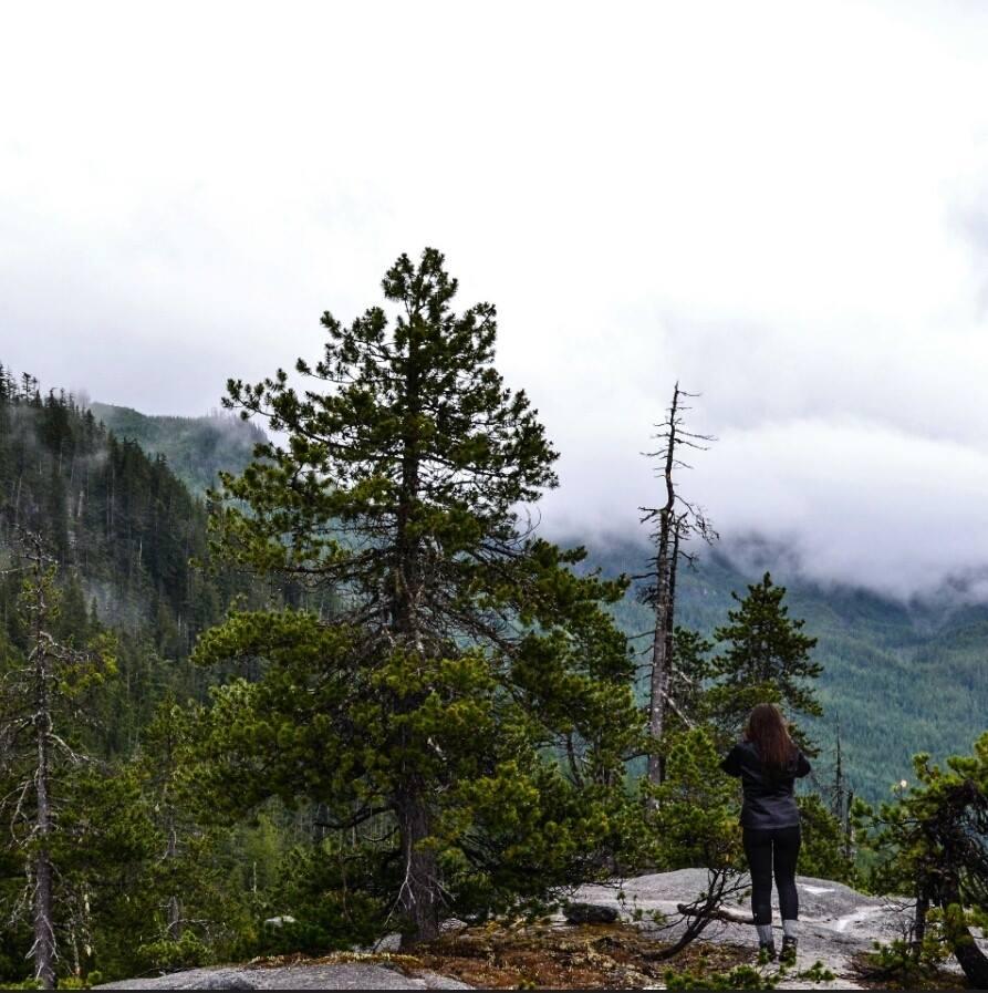 Exploring Al's Habrich trail.