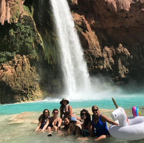 Photo from 2017 GWH Havasupai trip, courtesy of Girls Who Hike member Connie Bosson