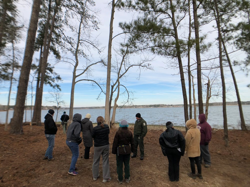 The conditions were unseasonably cold, but that didn't stop nearly a dozen people from showing up for the First Day Hike at Lake Greenwood State Park
