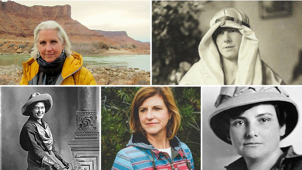Top Row: Terry Tempest Williams, Freya Stark Bottom Row: Clare Marie Hodges, Donna Carpenter, Harriet Chalmers Adams Photos courtesy of: National Photo Company Collection (Library of Congress), John Murray, Yosemite Research Library, Burton Snowboards, Terry Tempest Williams