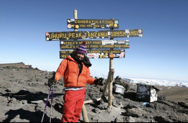 """Circa 2007, when I summited the """"Rooftop of Africa"""", Mt. Kilimanjaro."""