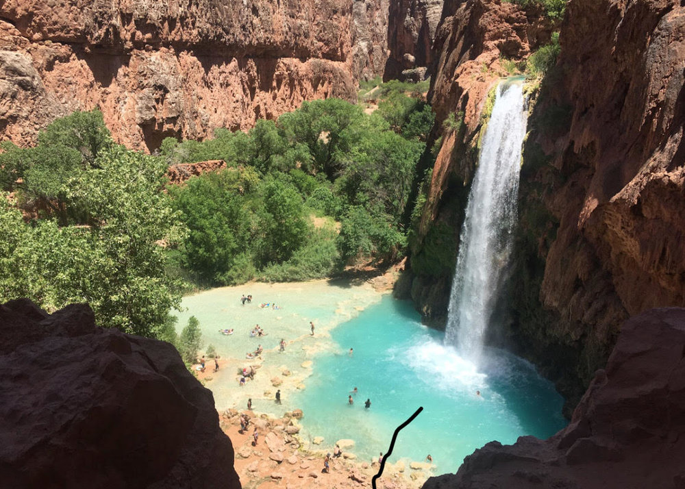 The first view of Havasu Falls as we entered camp.