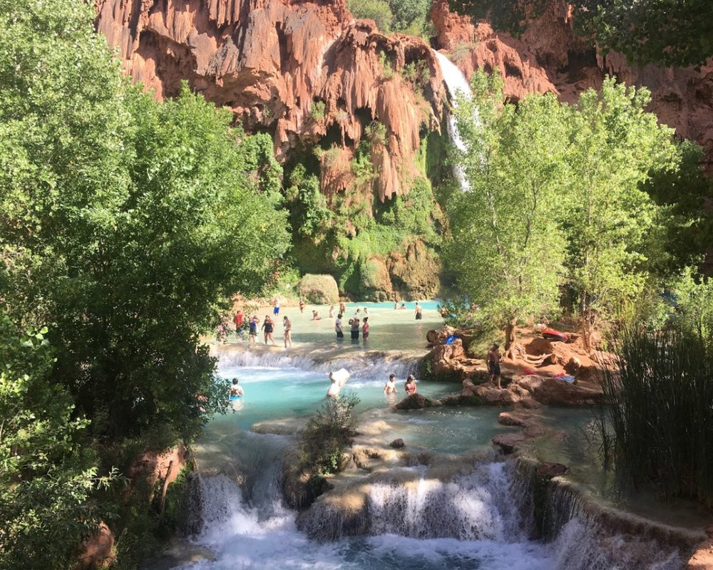 The Beautiful Havasu Falls.