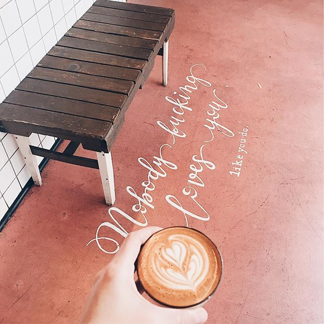 Monday morning vibes 💗 #dtla #downtownlosangeles #supportlocal #bestespresso #losangeles #coffeeroasters #nobodyfuckinglovesyou