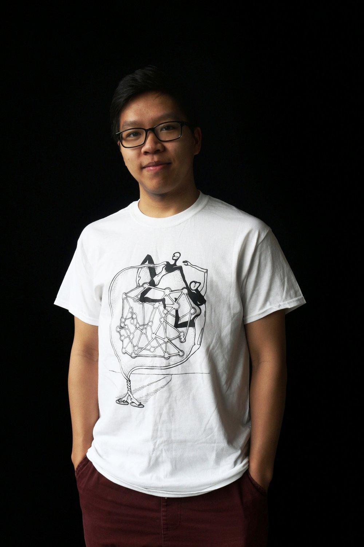 Intertwined (2015),  silkscreen t-shirt
