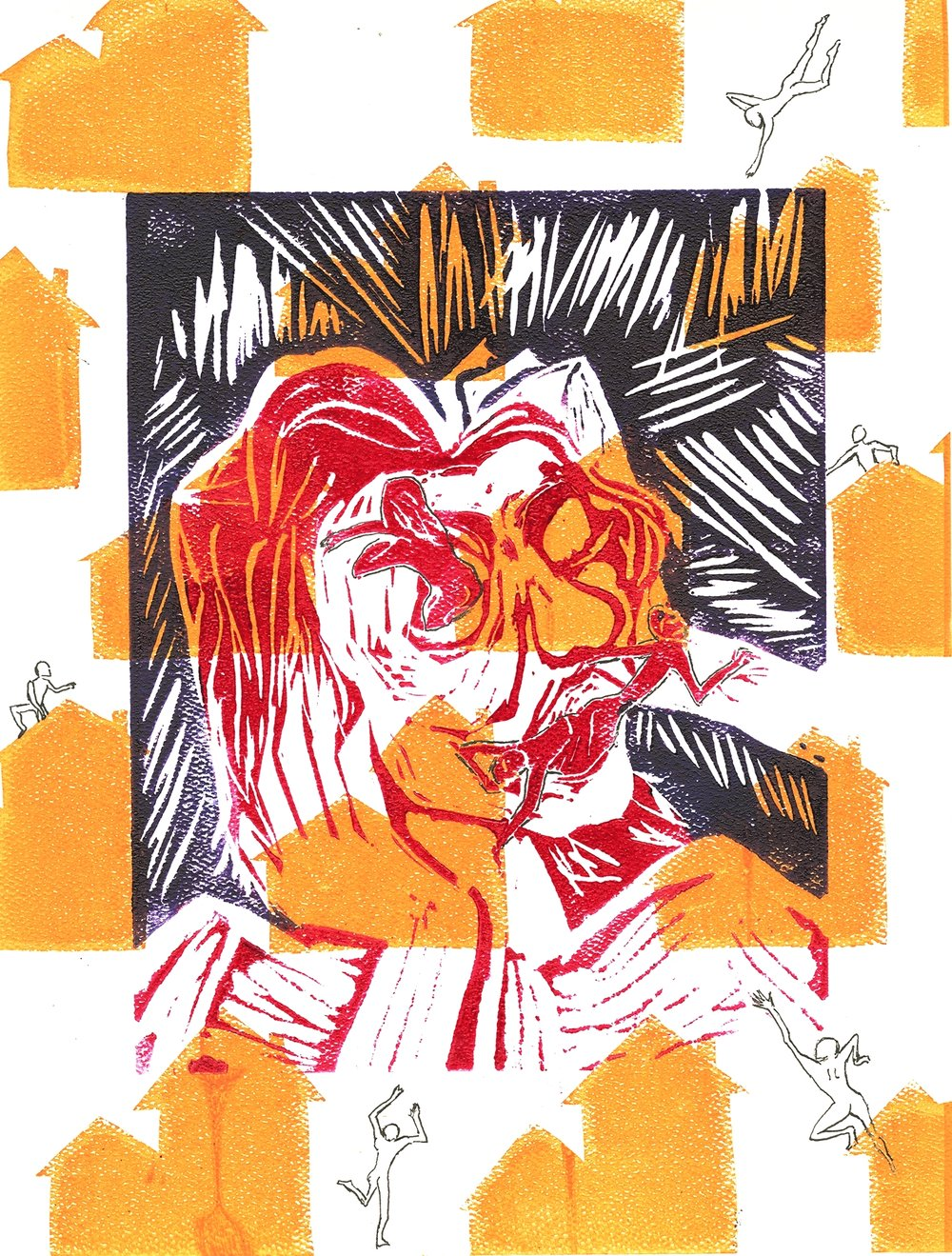 Outside Inside (2015),  relief print